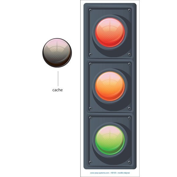 Magnetic plate for monitoring indicators | VISIOFLASH TRAFFIC LIGHT