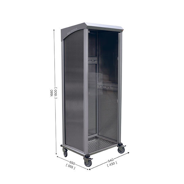 Mobile cleaning station 5S | NETPOST 850 STAINLESS STEEL