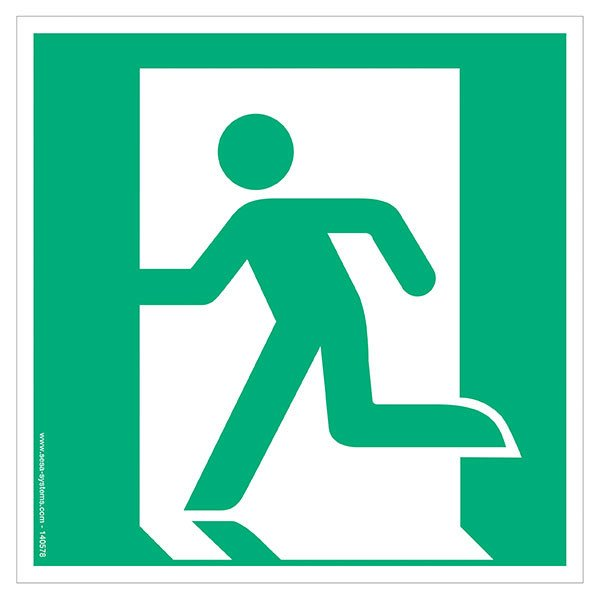 Pictograms Emergency exit on the left E001