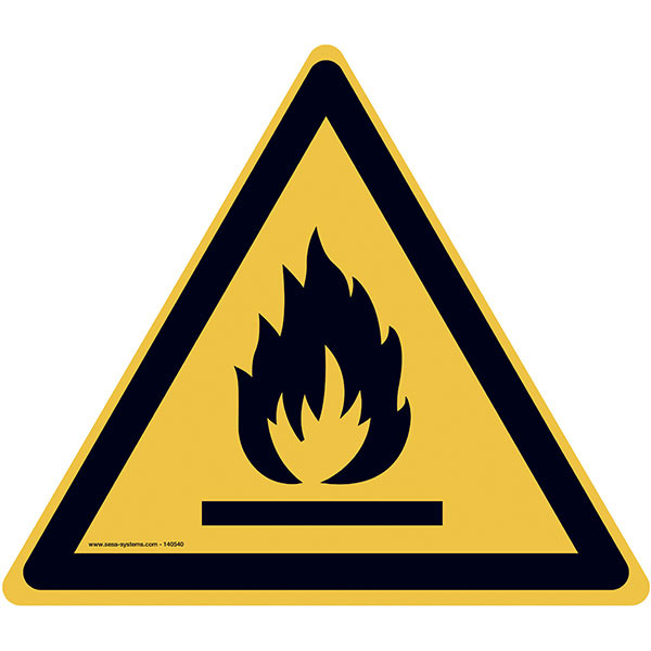 Pictograms Flammable materials W021