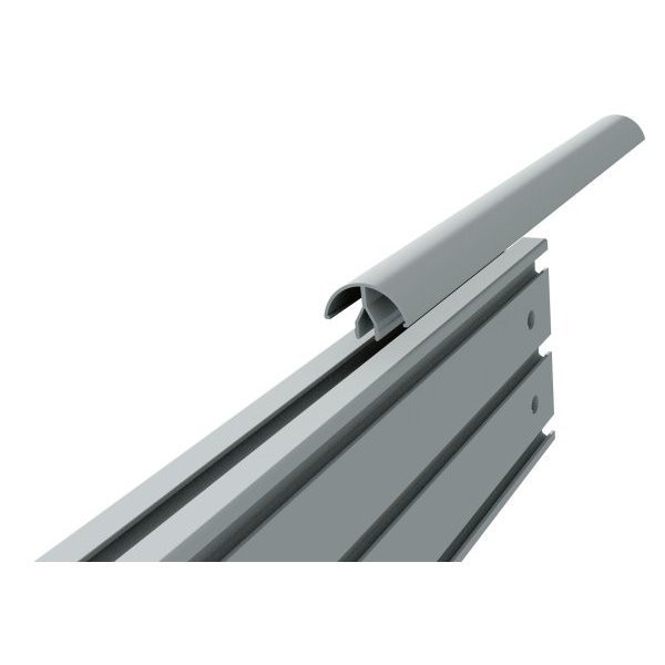 Rounded aluminum bar for cable management