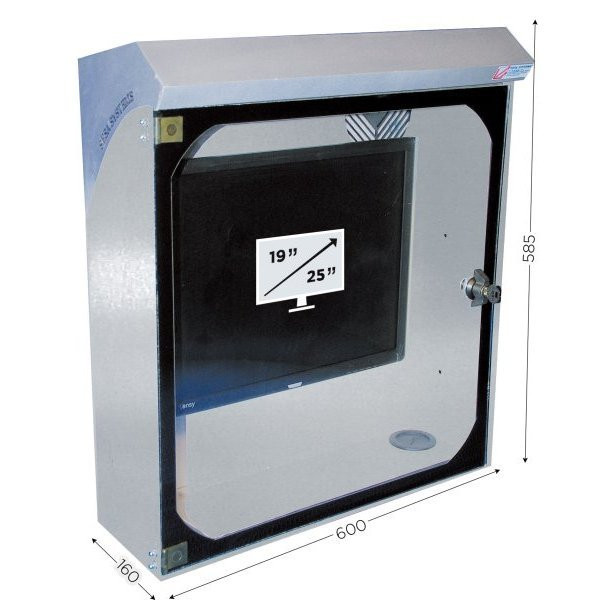 Stainless steel screen protecton box | INFOPOST 250 STAINLESS STEEL