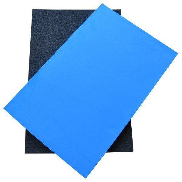 Two-colour foam without cut-outs