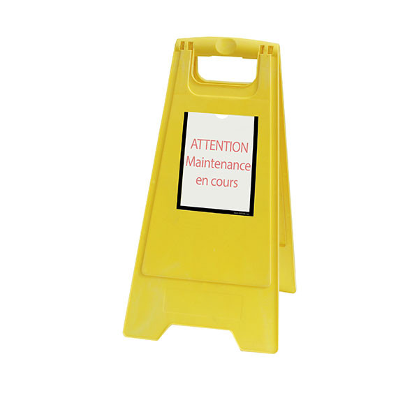 Yellow Temporary maintenance work easel | TIP'INFO