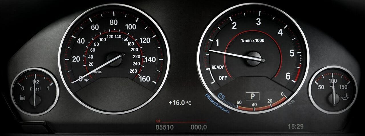 Dashboard of a car