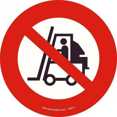 Pictograms No forklift P006