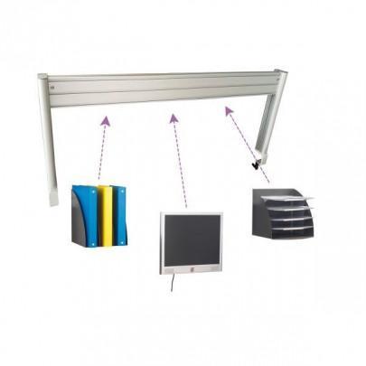 Aluminium structure for ergonomic desk | LEANERGO ALUMINIUM
