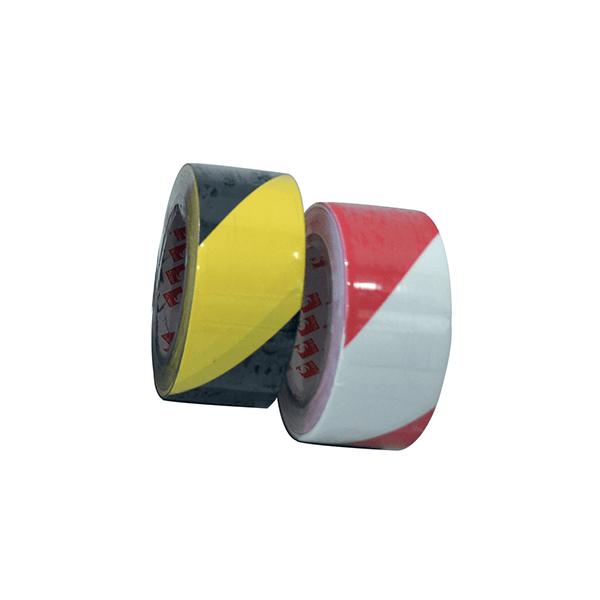 Striped ground adhesive tape