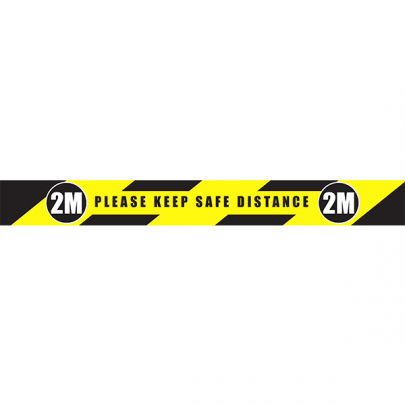 Roll of marking tape: Keep your distance