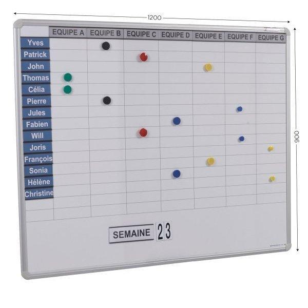 Tableau de planning magnétique